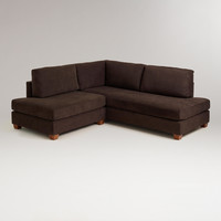 Chocolate Wyatt Sectional Sofa - World Market