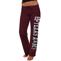 Texas A&M Aggies Ladies Frosh Fleece Sweatpants - Maroon