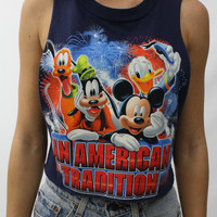 """Disney: An American Tradition"" Vintage Crop Tank"