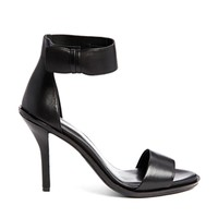 KG by Kurt Geiger Jade Black Leather Single Sole Heeled Sandals - Blac