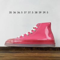 Kuyou Fa19630 Converse Chuck Taylor All Star Glow 1970s Patent Leather High Top Canvas Shoes