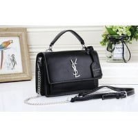 YSL fashion hot selling lady casual solid color clamshell shopping shoulder bag #2