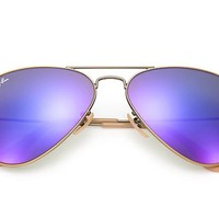 Ray-Ban Aviator Purple Flash Mirror Sunglasses, RB3025 112/68F 58mm