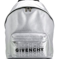 Silver Metallic Backpack by Givenchy