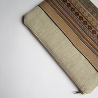 Aztec MacBook 13 sleeve with zipper and pockets, MacBook Pro 13 sleeve, MacBook Air 13 Case, MacBook Pro 13 case