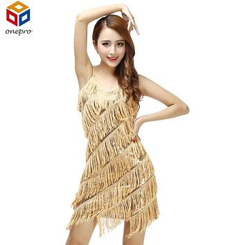 Woman  flapper fringe 1920s vintage great gatsby sequin party dress slip sexy summer dresses