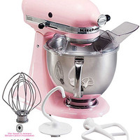 KitchenAid KSM150PSPK Stand Mixer, 5 Qt. Artisan Cook for the Cure Edition - The Pink Shop - Women - Macy's