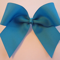 Blue Cheer Bow by MadiLeighBowtique