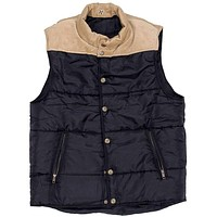 Reversible Vest in Navy and Khaki Corduroy by Castaway Clothing