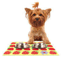 """Jane Smith """"Seasons Summer"""" Yellow Red Dog Place Mat, 24"""" x 15"""" - Outlet Item"""