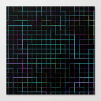 Re-Created SquaresI  Stretched Canvas by Robert S. Lee