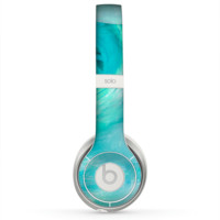 The Subtle Teal Watercolor Skin for the Beats by Dre Solo 2 Headphones