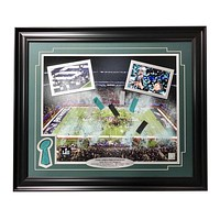 Philadelphia Eagles Super Bowl Champions Authentic Confetti Framed 16X20 Collage