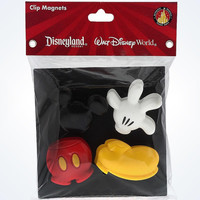 disney parks kitchen mickey body parts set of 4 clip magnet new sealed