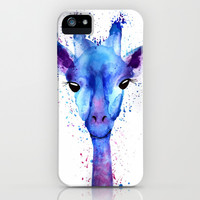 watercolor giraffe iPhone & iPod Case by Kristina Henrichsen
