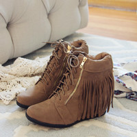 Fringe Walker Booties