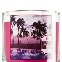 Bath & Body Works Hawaiian Hibiscus Scented 3 Wick Candles