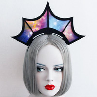Star Sky Pattern Crown Style Hairbands