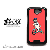 Pug Bicycle For HTC One X Case Phone Case Gift Present