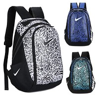 Nike Fashion Letters Sports Backpack 5 Color Sapphire Light Blue