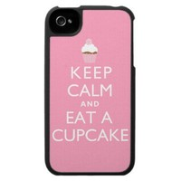 Keep Calm and Eat a Cupcake Iphone 4 Cases from Zazzle.com