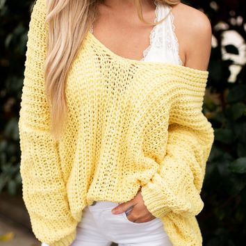 Reasons To Relax Sweater (Yellow)