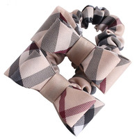 Hair Rope Plaid Flower Children Elastic Hair Bands Rubber Ponytail For Women Girl Headwear Hair Accessories  Bowknot Scrunchy