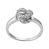 Sterling Silver 1/10-ct. T.W. Diamond Knot Promise Ring