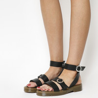 Office Stockholm Cleated Sole Sandals Black - Sandals