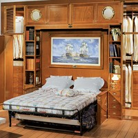 Fitted wooden bedroom set with bridge wardrobe 601 by Caroti