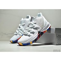 NIKE Kyrie 5 2019 new style brand air cushion wear-resistant sports combat basketball White