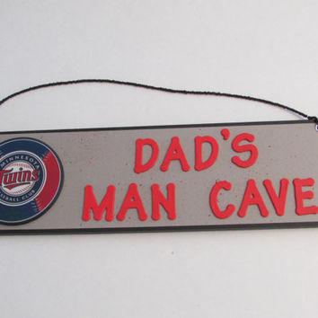MLB Minnesota Twins Baseball Dad's Man Cave Sign - Father's Day - Personalized Kids Room Decor