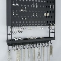 Earring Holder Organizer Storage Closet Necklace Rack - Angelynn's Jewelry Organizers (Accessory Angel Black)