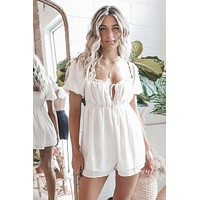 All Sass Satin Babydoll Romper