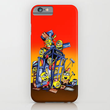 Phone booth Builder iphone 4 4s, 5 5s 5c, 6, ipod, ipad, pillow case and tshirt iPhone & iPod Case by Three Second