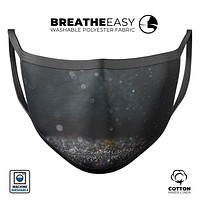 Black Unfocused Glowing Shimmer - Made in USA Mouth Cover Unisex Anti-Dust Cotton Blend Reusable & Washable Face Mask with Adjustable Sizing for Adult or Child