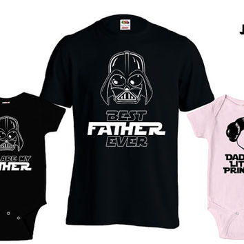 Matching Father Son Shirts Best Dad Ever T Shirt Daughter Son Baby Bodysuit Matching Family Shirts First Fathers Day Men's Todder Tee MD-427