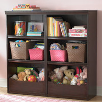 Kids' Bookcases: Kids Espresso Flat Top With Adjustable Shelves Bookcase in Bookcases