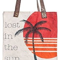 Mona B Paradise Upcycled Canvas Tote Bag ML-1000 with Coin Purse