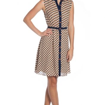 THE CALICO DRESS BEIGE - Pinkmartini Collection