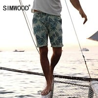 Summer New Shorts floral Pattern Knee Length Cotton Casual beach shorts Clothing
