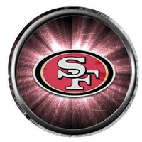 Set of 3 NFL San Francisco 49ers Football Logo 18MM - 20MM Snap Jewelry Charms New Item