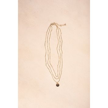 Cameron Gold Layered Coin Necklace