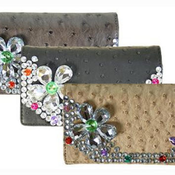 Sparkly Rhinestones Zipper Wallet