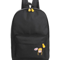 Hello Girl Backpack In Black