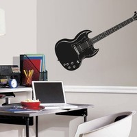 ik788 Wall Decal electric bass guitar star music song artist notes chords rock