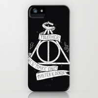 Together they make one Master of Death iPhone & iPod Case by Mathijs Vissers