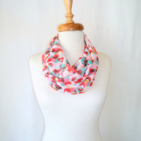 ON SALE, Chiffon Scarf ,Loop Scarf ,Women Scarf ,İnfinity Scarf, Dotto Scarf, Gift, Mint, Pink Scarf