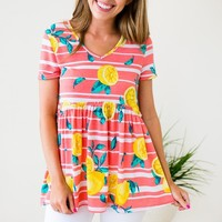 Fresh Squeezed Stripe Babydoll Top