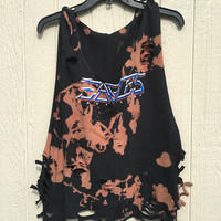 The Eagle's  tank top sized  large, bleached distressed shirt